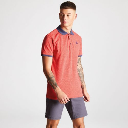 Dare2b Men's Deference Polo Shirt Fiery Red